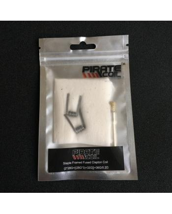 Pirate Staple Framed Fused Clapton Coils With Cotton