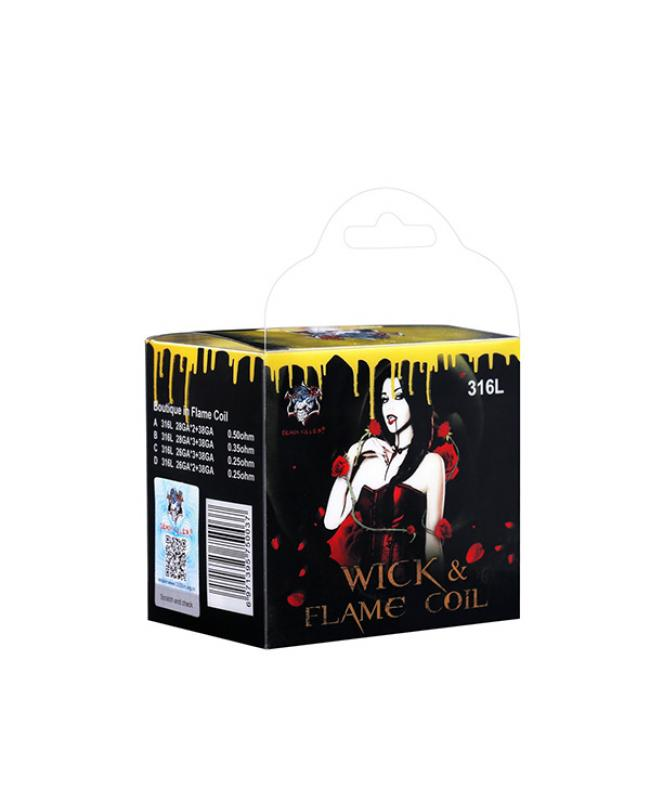 Demon Killer Wick Flame SS316L Pre Built Coils For Sale