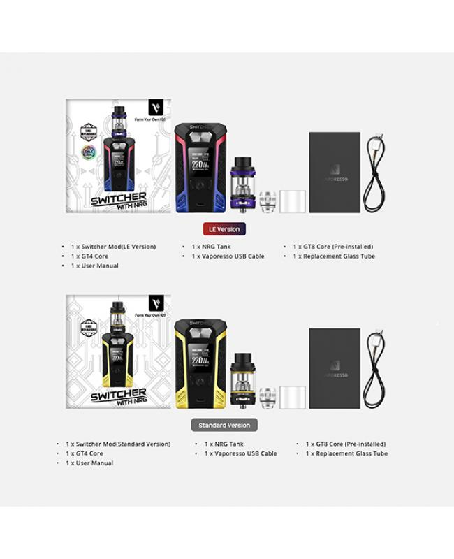 Vaporesso Switcher 220W Vape Kit With NRG Tank