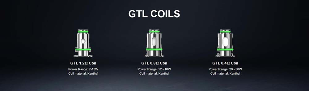 3 Types Of GTL Coils Available