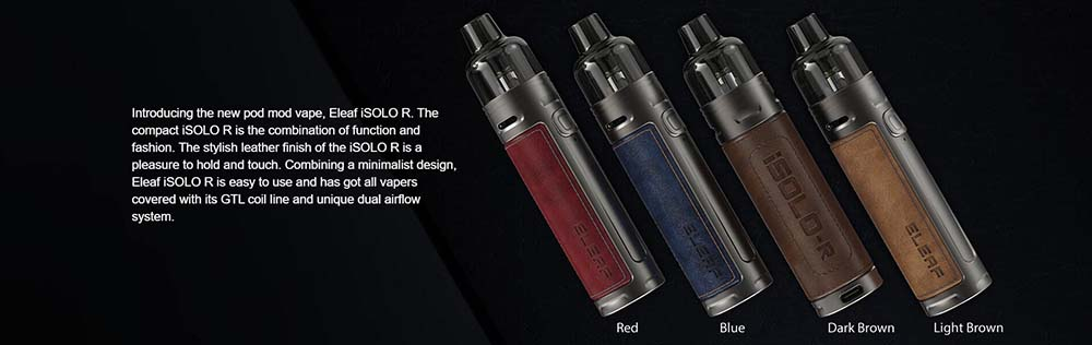 Eleaf iSolo R Pod Kit 4 Colors Available