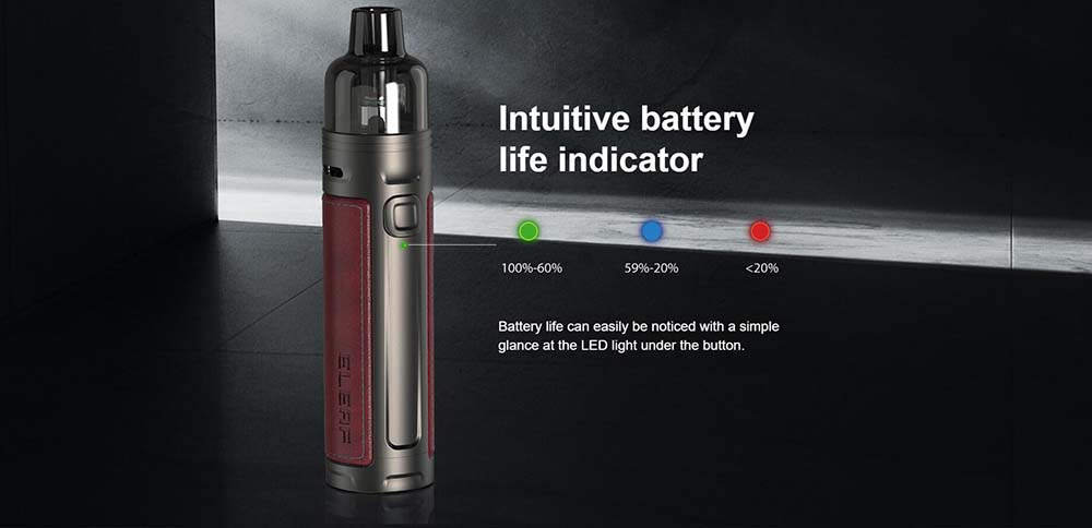 Eleaf iSolo-R Pod Kit With Intuitive Battery Indicator Light