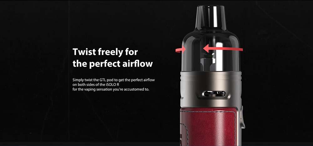 Eleaf iSolo-R With Twist Airflow Adjustable Design