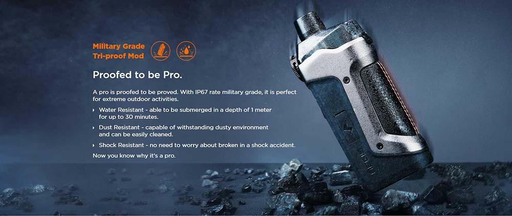 Geek Vape Aegis Boost Pro With IP67 Rate Waterproof Feature