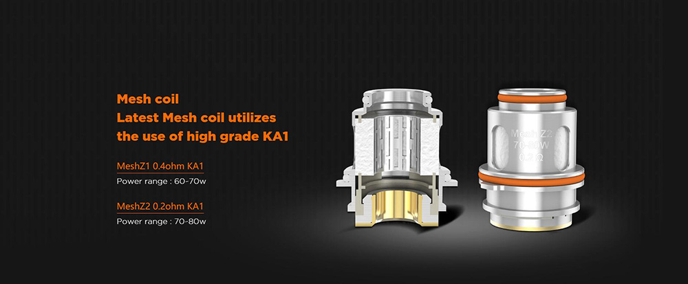 Geekvape Zeus Tank Comes With Mesh Z1 And Mesh Z2 Coils