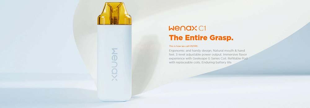Geekvape Wenax C1 Pod System With Ergonomic And Handy Design