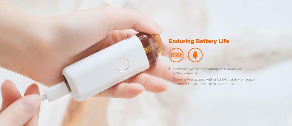 Wenax C1 Integrates 950mAh Battery