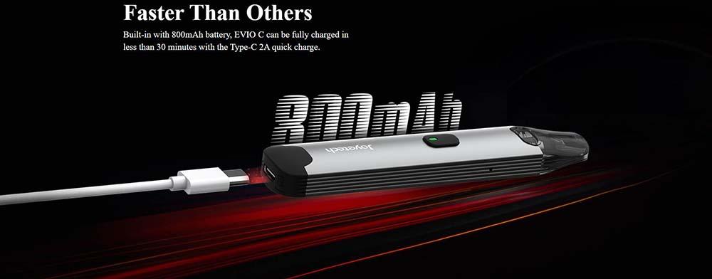 Joyetech EVIO-C Kit built-in 800mAh Battery With USB Type-C Charging Port