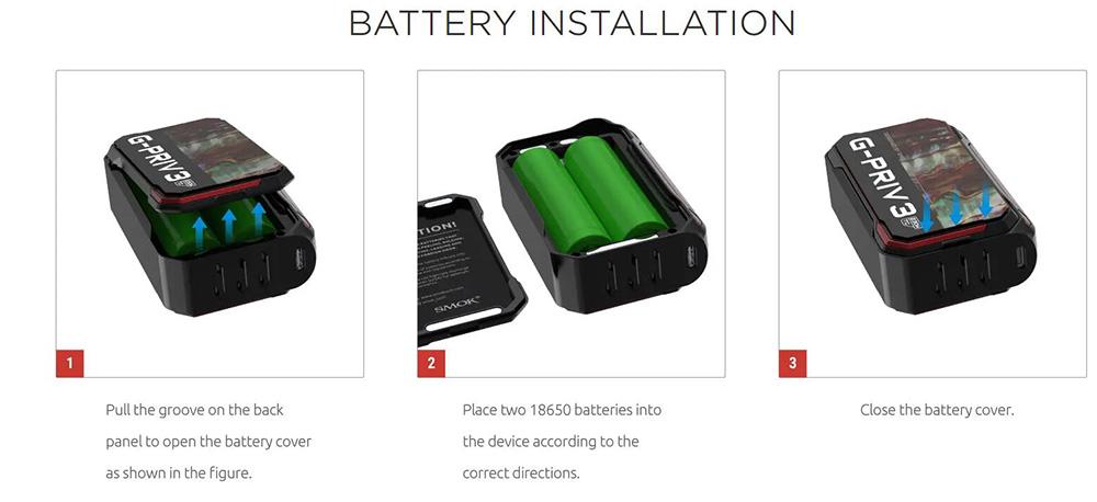 Smok G-PRIV 3 Battery Replace