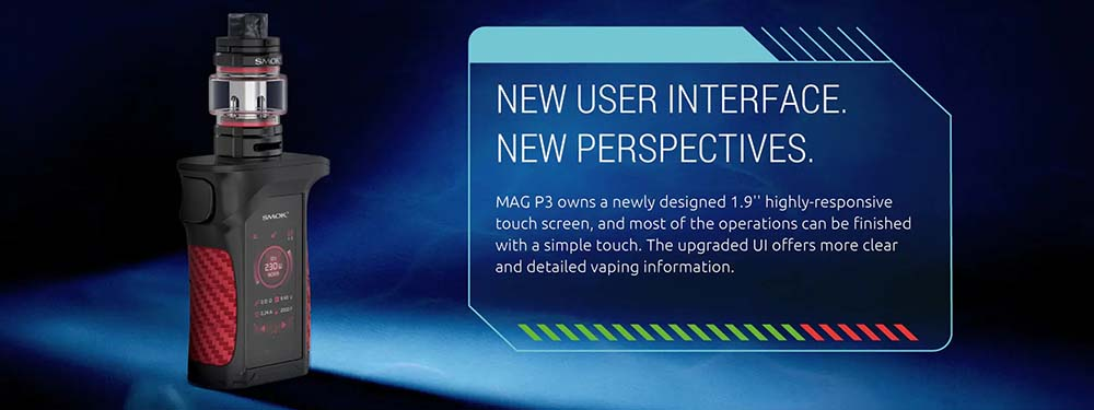 Mag P3 With 1.9 inch HD Touch Screen