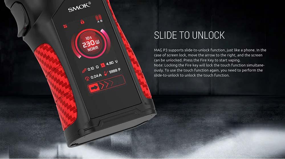 Smok Mag P3 With Slide To Unlock Design