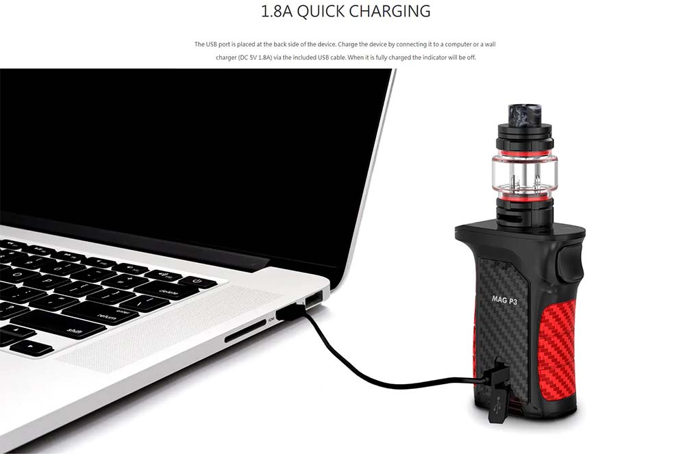 Smoktech  Mag P3 Kit With 1.8A Quick Charging System