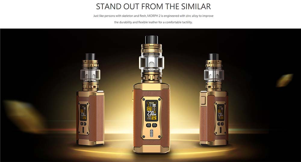 Smoktech Morph 2 Made Of Zinc Alloy And Leather