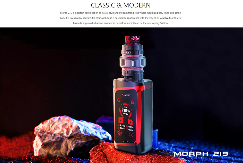 Smok Morph 219 Kit With Classic And Modern Design