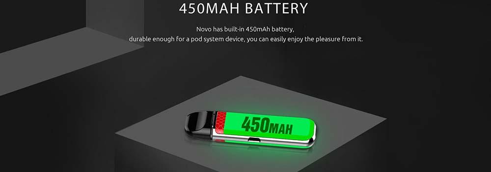 Novo By Smok Integrates 450mAh Battery