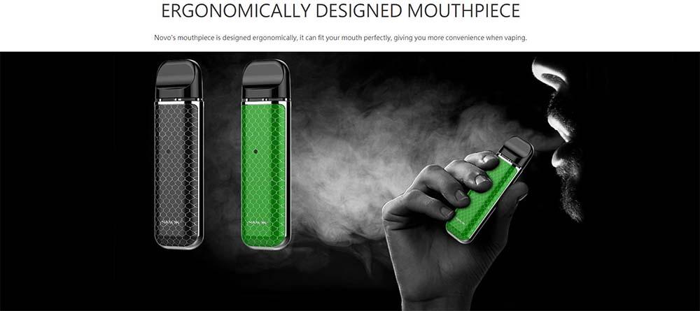 Smok Novo Pod System With Ergonomically Designed Mouthpiece