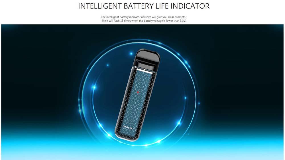 Smok Novo With Intelligent Battery Life Indicator Light