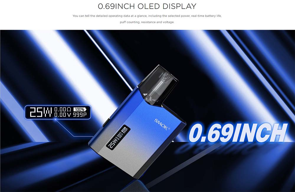 NFIX MATE adopts 0.69 inch OLED sreen