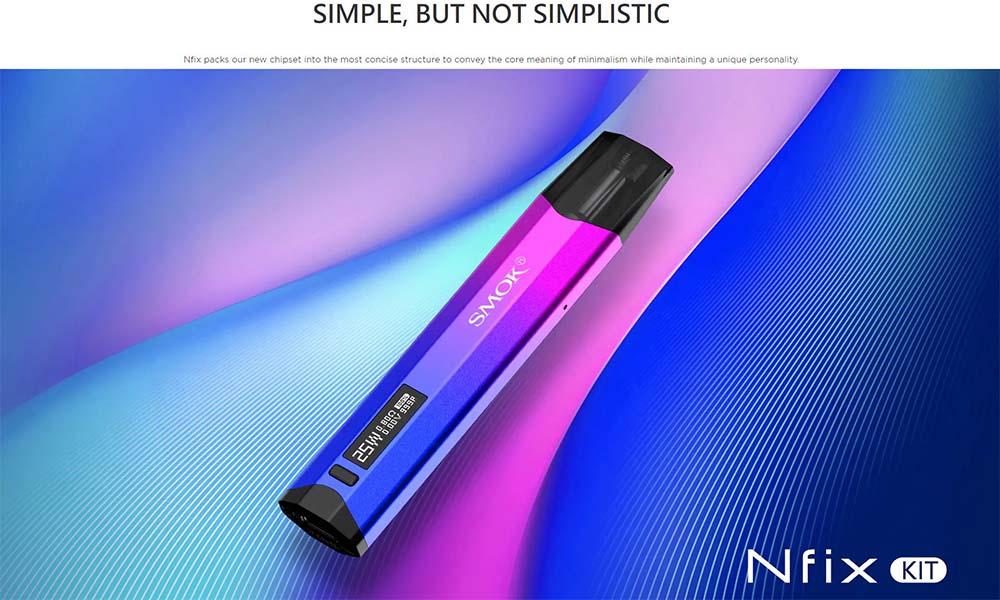 smok nfix 25w pod system with simple design
