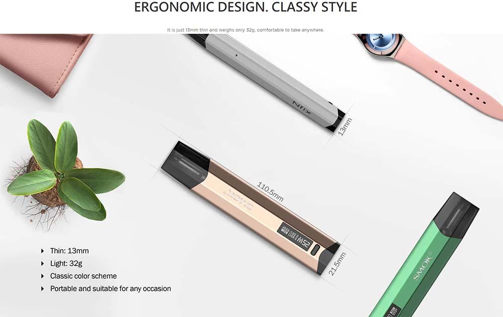 smok nfix pod kit with slim design