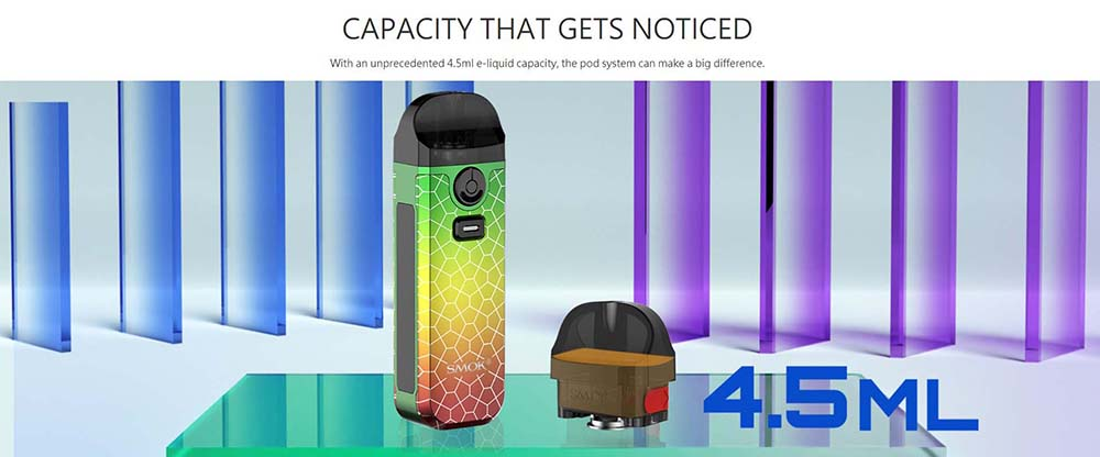 Nord 4 Pods With 4.5ML E-Juice Capacity