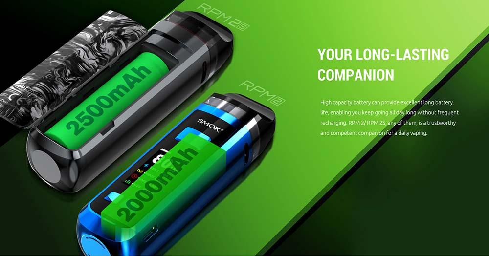 RPM 2 Integrates 2000mAh Battery For Long Lasting