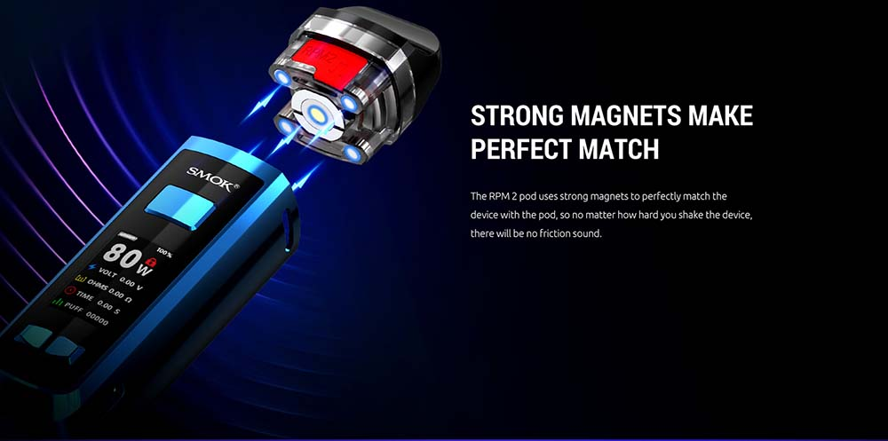 Strong Magnets Between RPM2 Battery And Pod