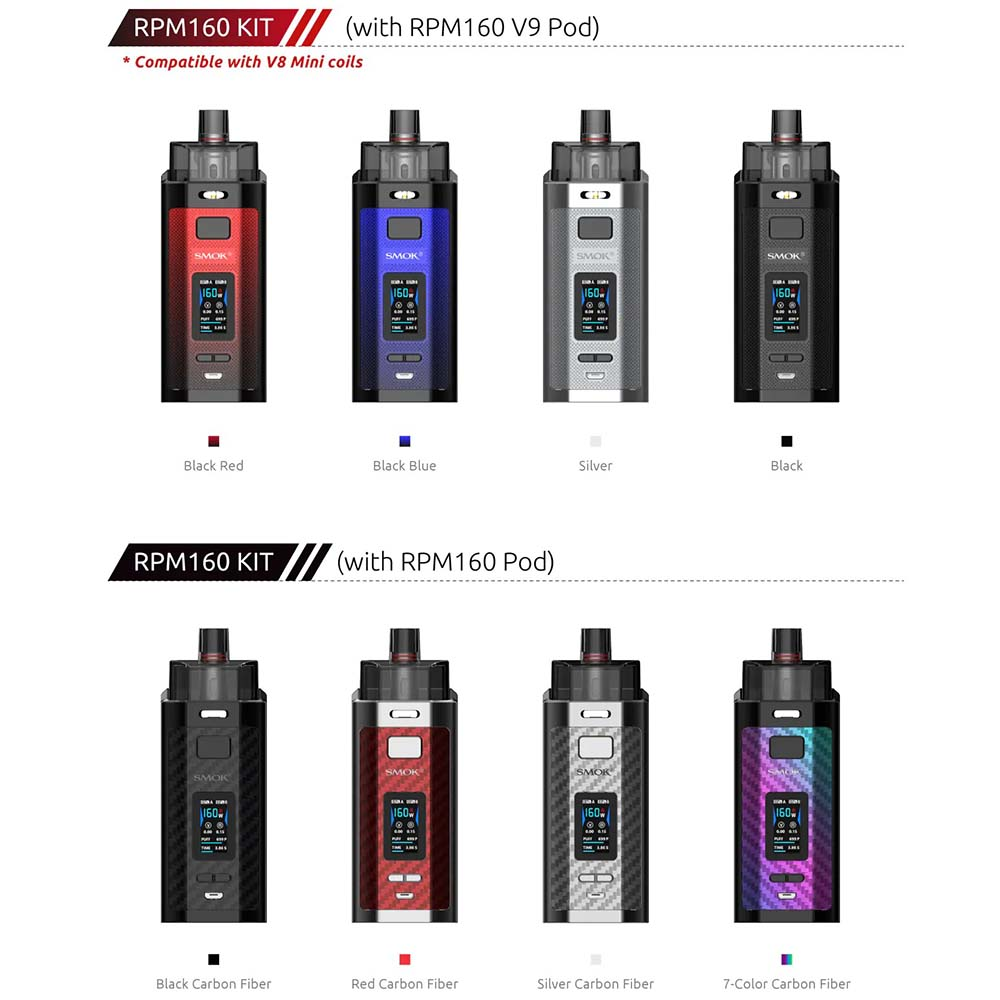 Smok RPM160 Kit Colors Available