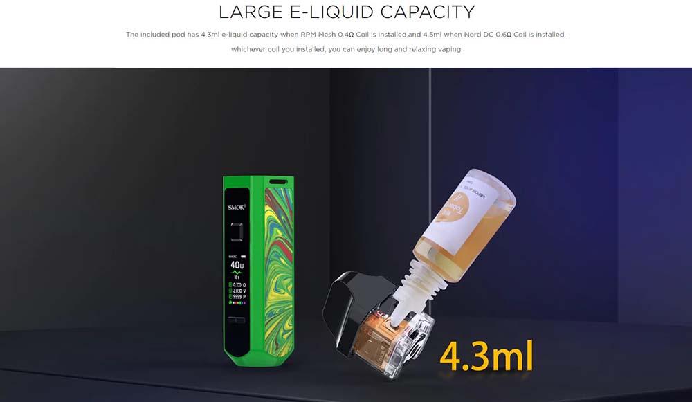 Smok RPM40 With 4ml e-juice capacity