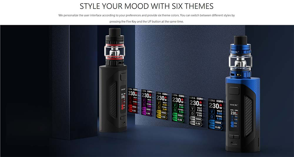 Rigel Box Mod With Six Screen Themes