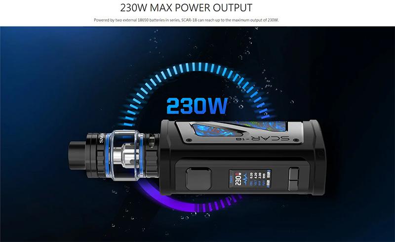 Smoktech Scar-18 Kit Max Output 230W