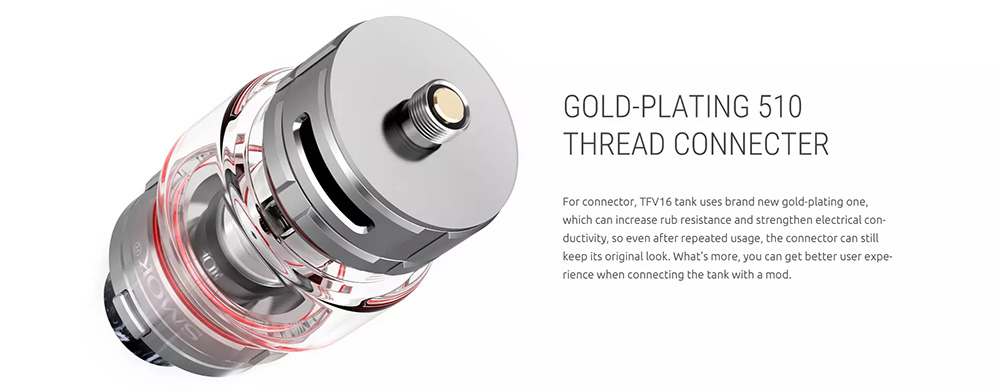 Gold Plated 510 Connector On TFV16