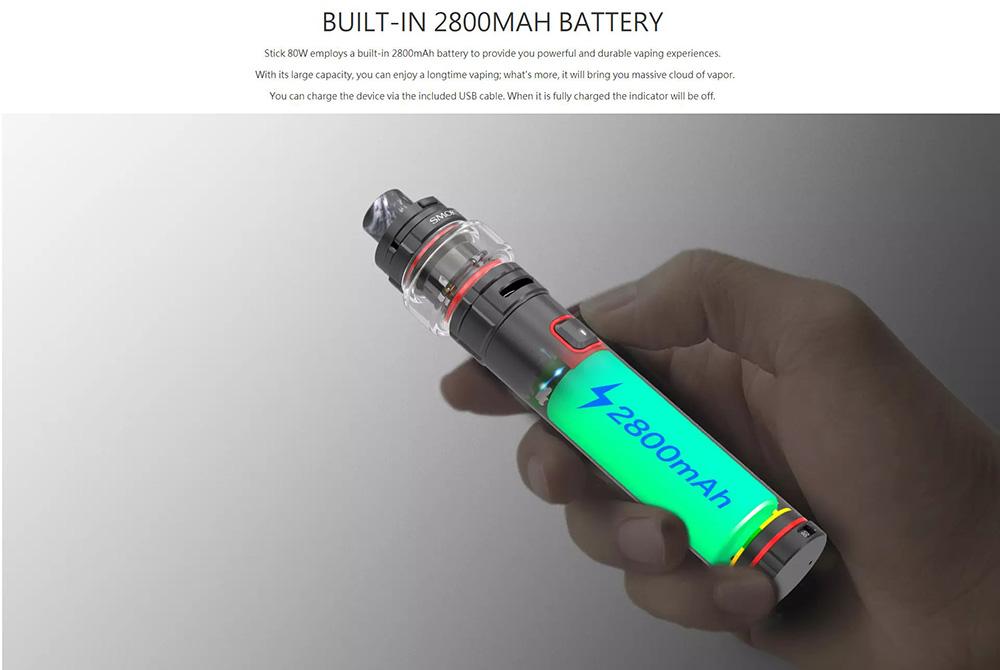 Stick 80W Kit Bult-in 2800mAh Battery