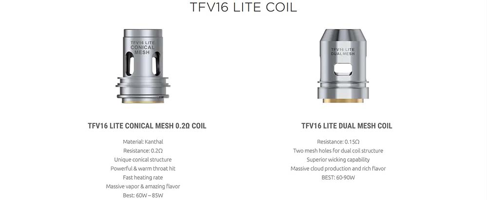 TFV16 Lite Coils Available