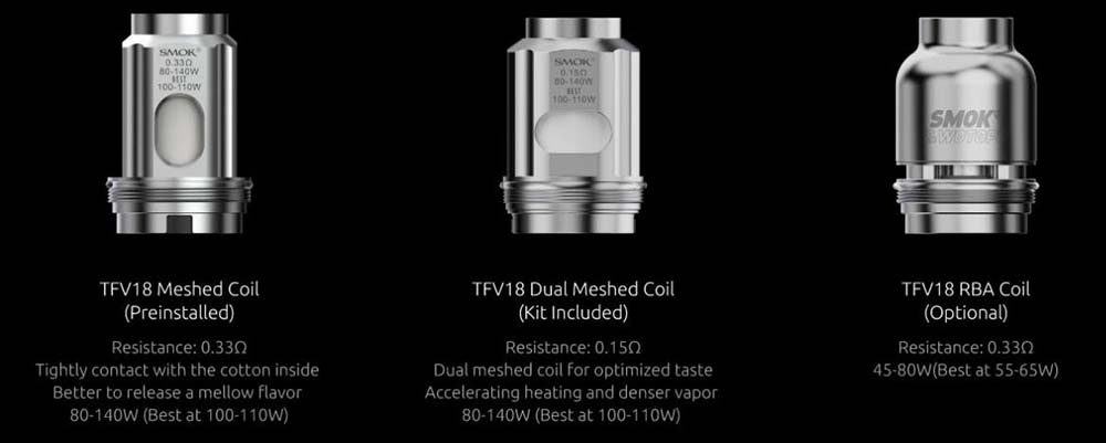 TFV18 Coils Available