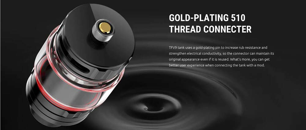 Smok TFV9 Atomizer With Gold Plating 510 Thread