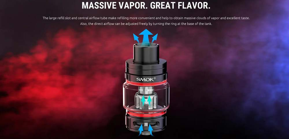 TFV9 Tank With Direct Airflow Adjustable System