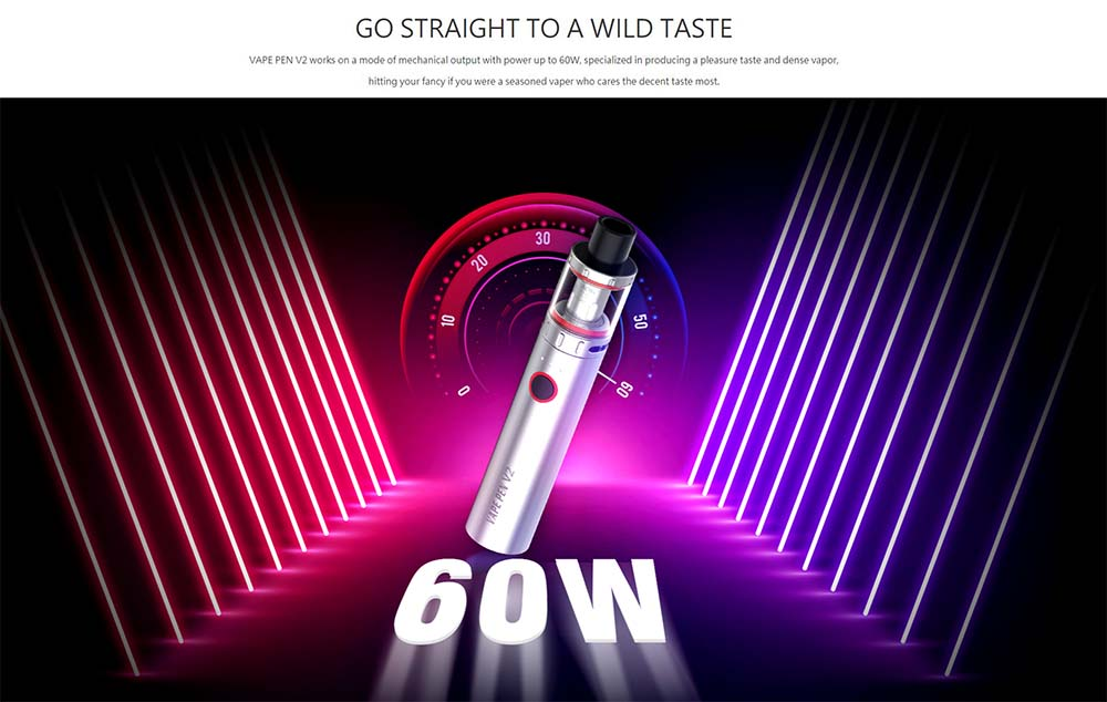 Max Output Power Of Vape Pen V2 Is 60W