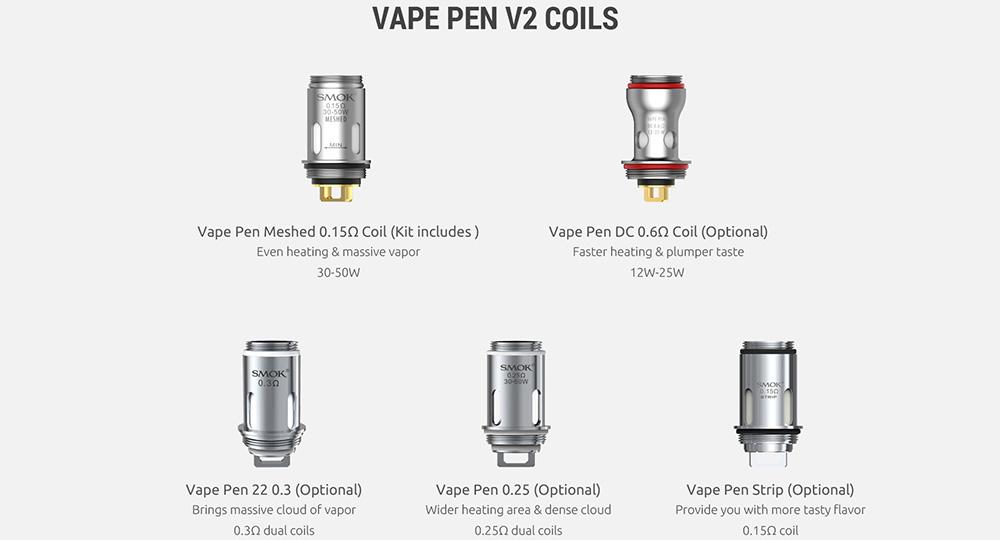 Vape Pen V2 Coils Available