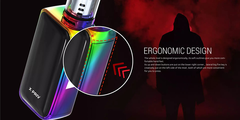 Smoktech X-PRIV With Lateral Big Fire Key