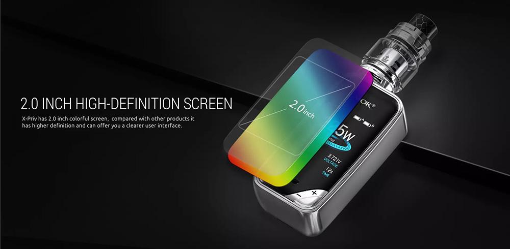 225W X-PRIV Adopts 2.0 inch HD Screen