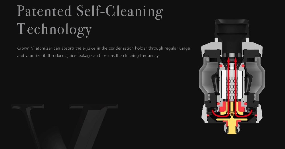 Crown 5 With Patented Self Cleaning Technology