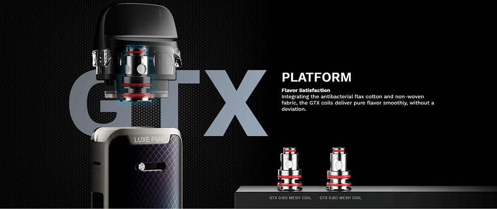 Vaporesso luxe pm40 kit compatible with GTX Coils