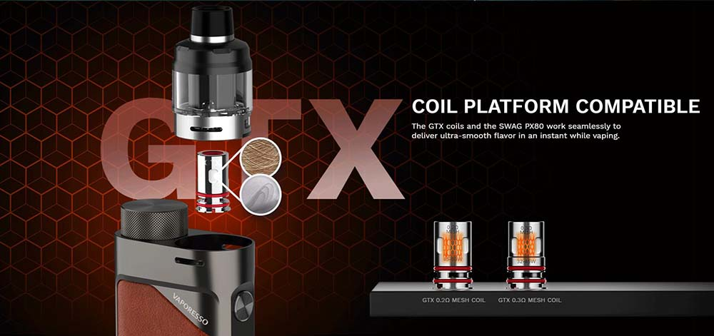 swag px80 with GTX Mesh coils