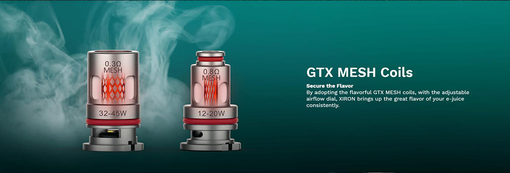 The Vaporesso XIRON Kit Comes With GTX Mesh Coils