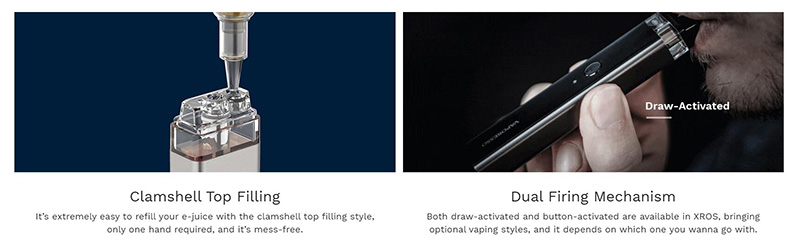 Vaporesso XORS Vape Kit With Convenient Top Filling And Dual Firing Mechanism