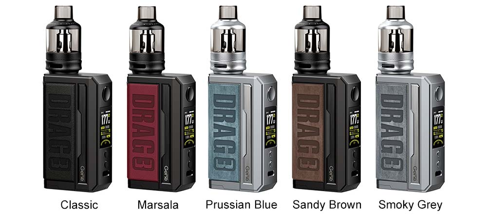 Voopoo Drag 3 Mod Pod Kit Colors Available