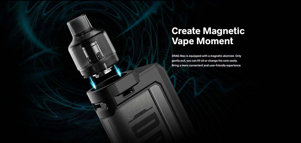 Drag Max With Magnetic Atomizer