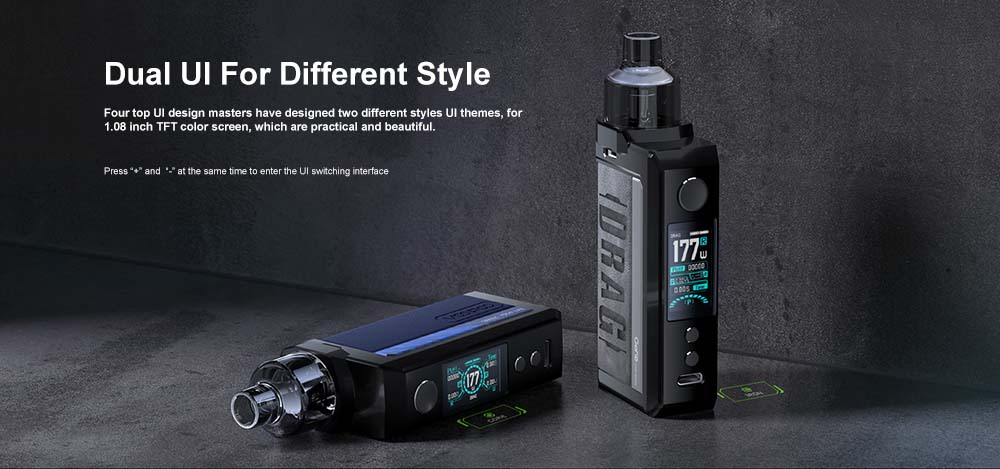 Voopoo Drag Max Kit With Two UI Interface