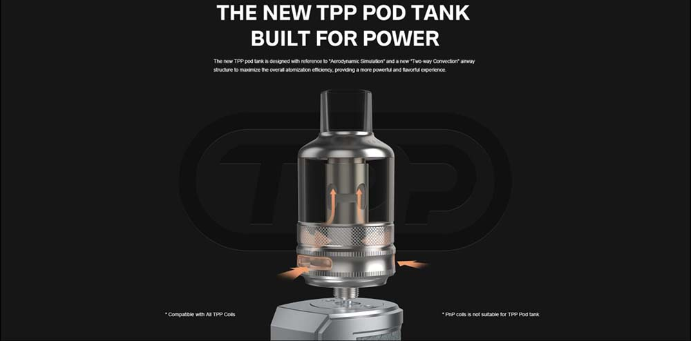 Voopoo TPP Pod Tank With Two Airflow Design